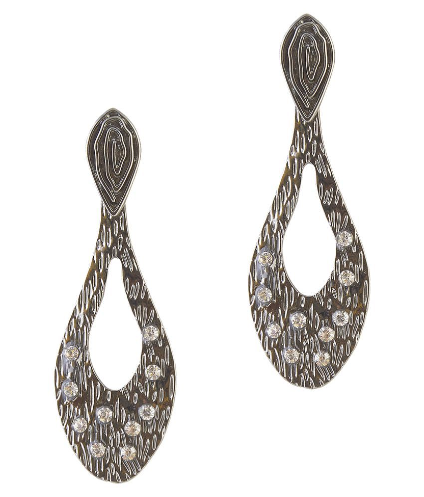 Kriaa Gray Hanging Earrings