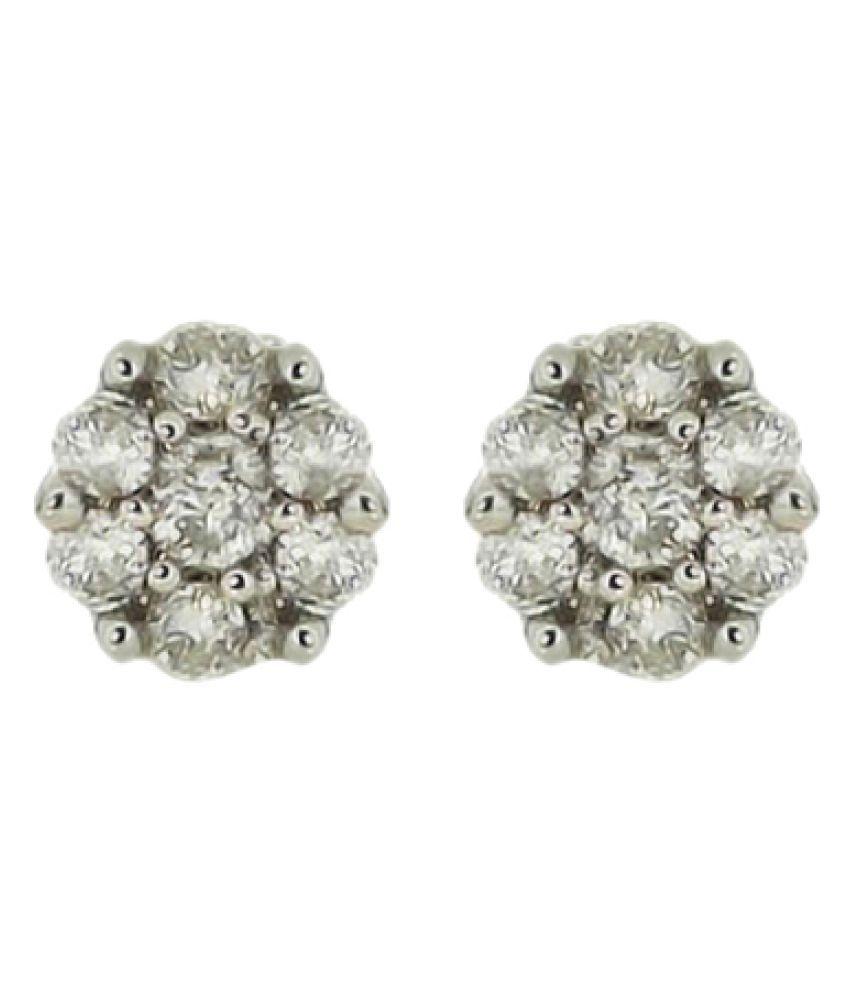 Voylla 92.5 Silver Diamond Studs