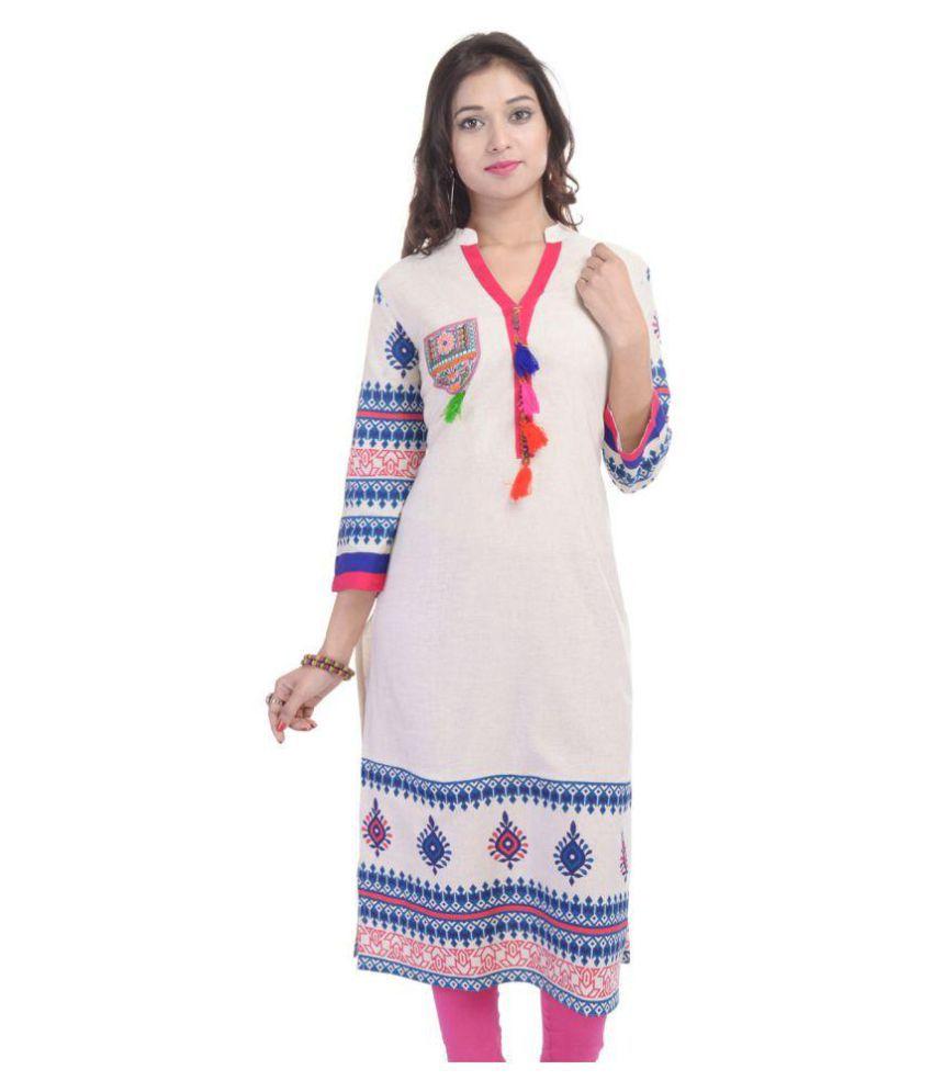 Rangilo Rajasthan Collection Multicoloured Cotton Straight Kurti