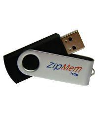 Zipmem M13 M13 16GB USB 2.0 Utility Pendrive Black