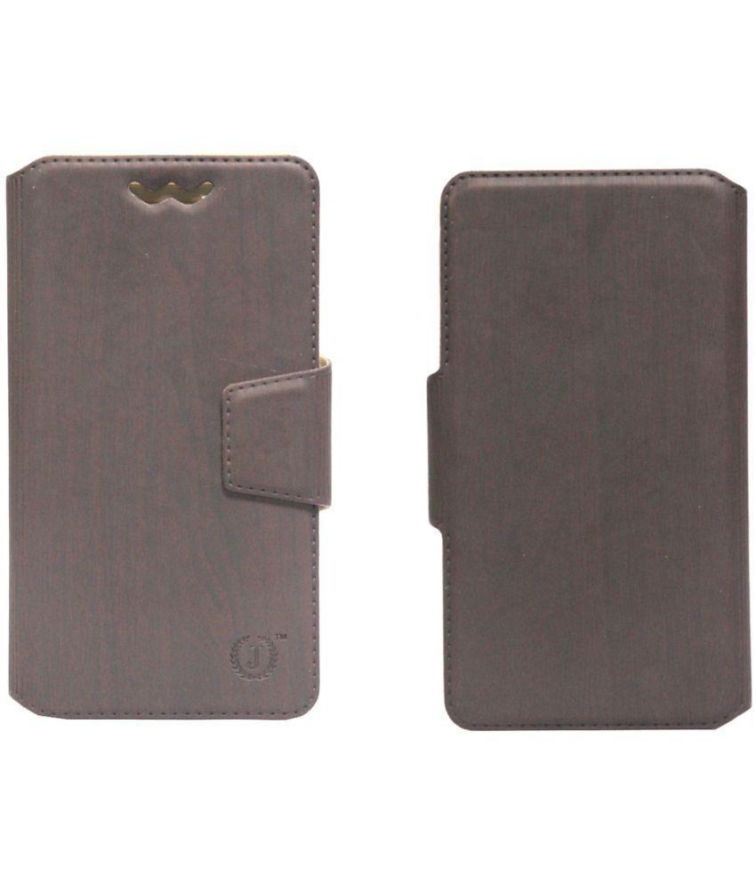 LG Stylus 2 Flip Cover by Jojo - Brown