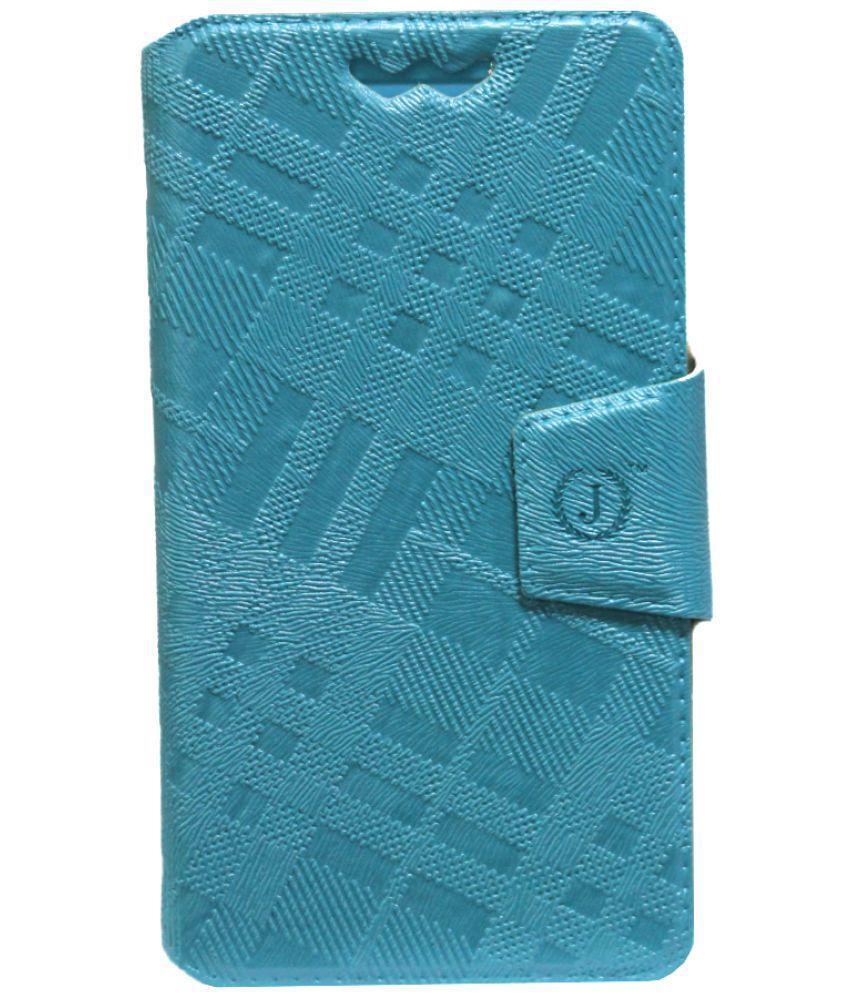 Spice Pinnacle Stylus MI 550 Flip Cover by Jojo - Blue