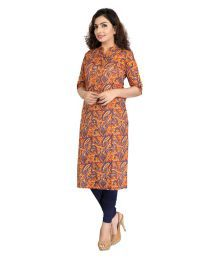 Cotton Culture Multicoloured Cotton Straight Kurti