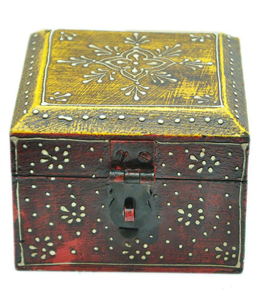 MohanJodero Multicolour Wooden Jewellery Box