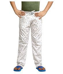 Kick Start White Cotton Pyjama