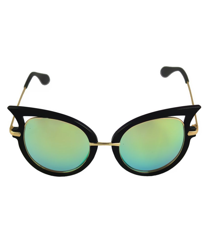 Bellofox Green Cat Eye Sunglasses ( BS1019 )