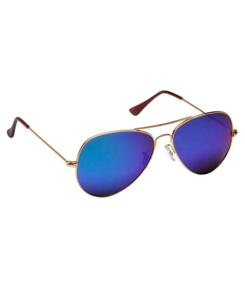 Lavi Blue Aviator Sunglasses ( Glass-01 )