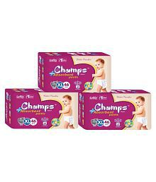 Champs High Absorbent Pant Style Diaper Extra Large 46 Pieces - Pack of 3