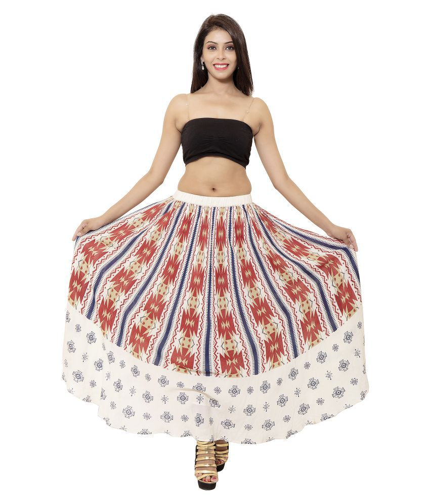 bc6ac347b4 Buy Goodwill Multi Color Cotton Circle Skirt Online at Best Prices in India  - Snapdeal