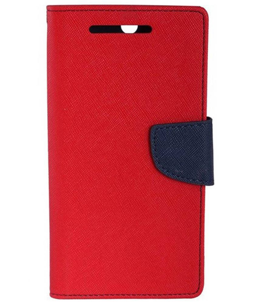 Lenovo Vibe K5 Plus Flip Cover by Case Cloud - Red