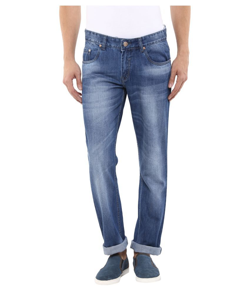 11cent Blue Slim Fit  Men's Jeans