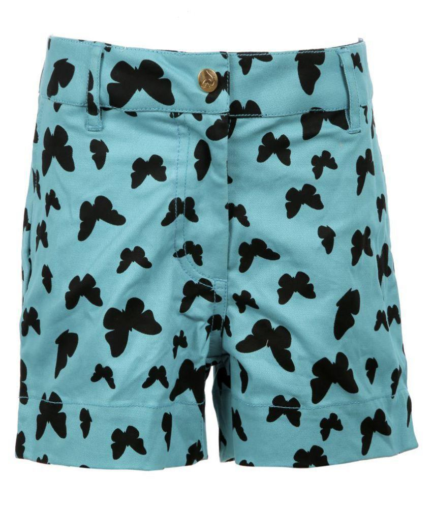 Posh Kids Multicolour Cotton Hot Pants