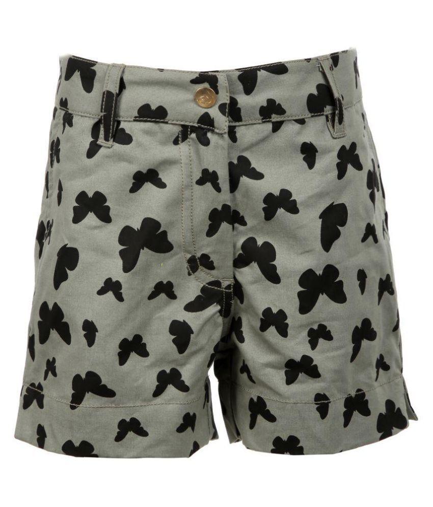 Posh Kids Multicolour Cotton Hot Pants
