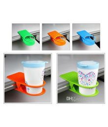 Sheeshaa Multicolor Mug Clip On Cup Holder - Set Of 2