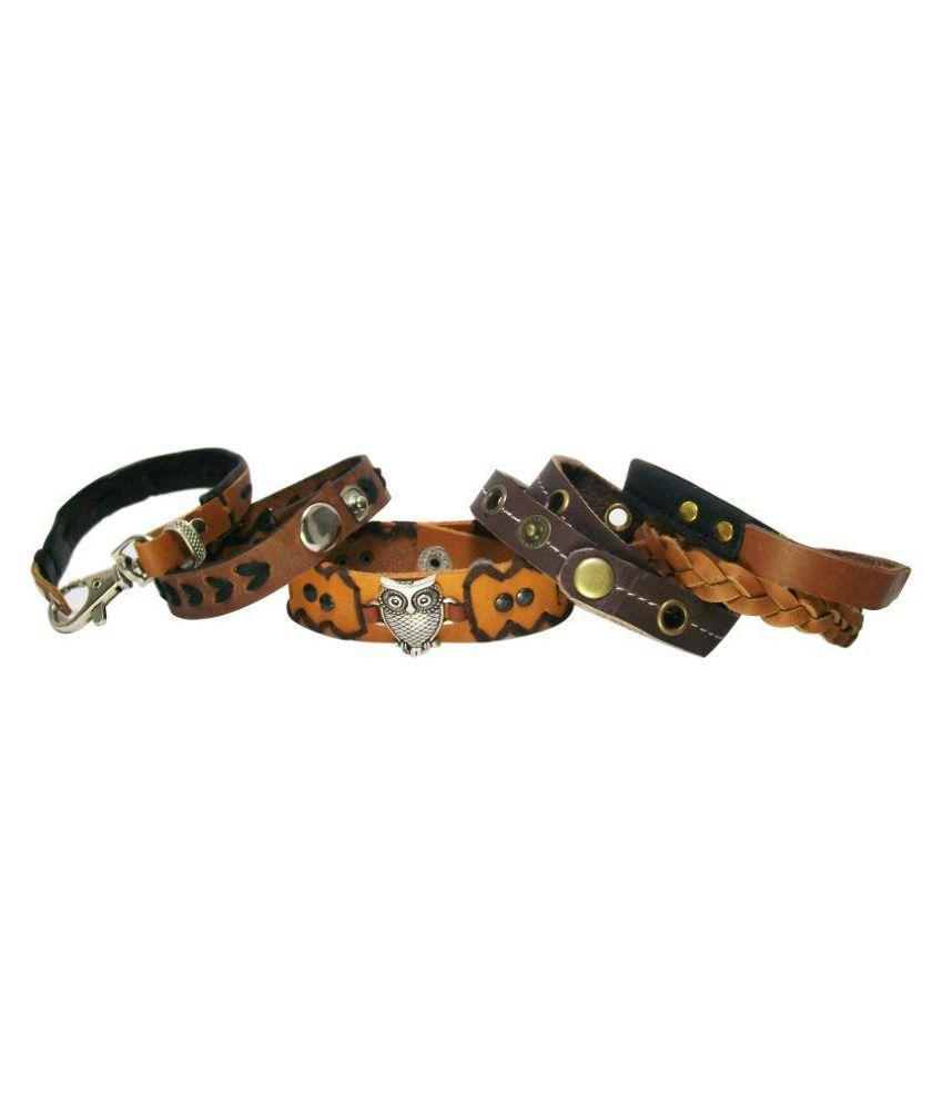 Sakhi Styles Multicolour Faux Leather Bracelet