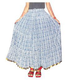 Jaipur Skirt Multi Color Cotton A-Line Skirt