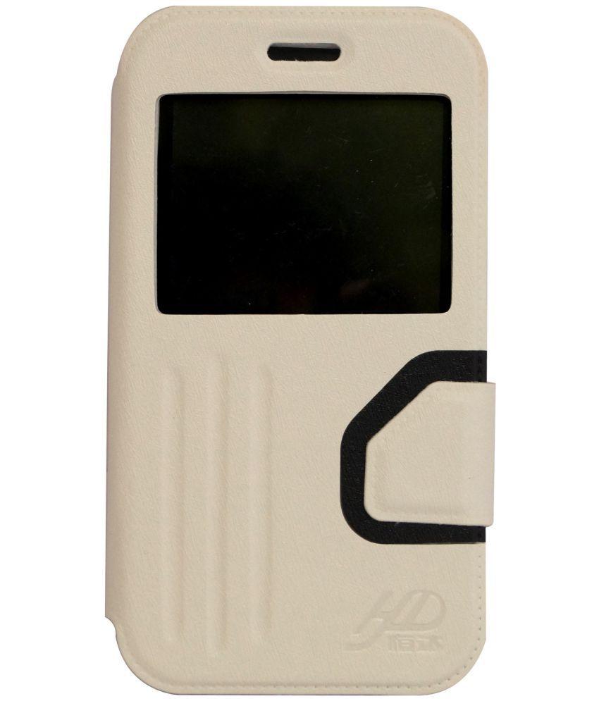 buy popular 12e6d 3fa61 Karbonn Titanium S2 Plus Flip Cover by GEOCELL - White - Flip Covers ...