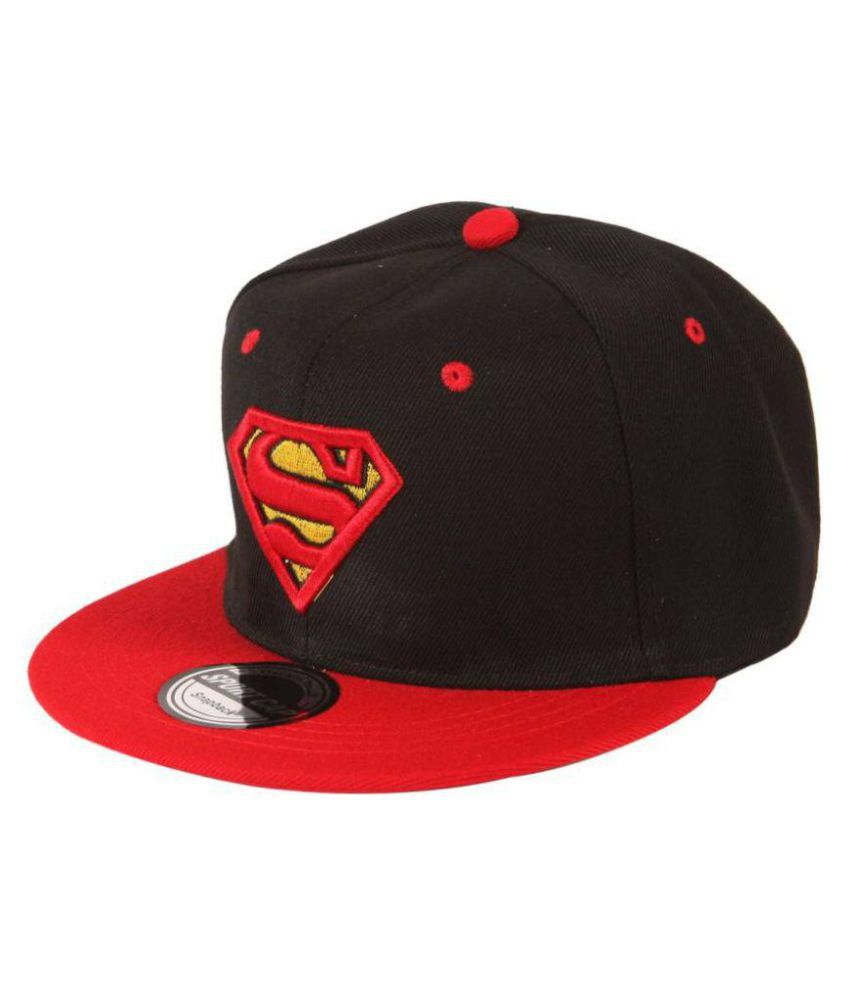 bf5091ea977b2 FAS Black Embroidered Superman Snapback and Hip hop Caps - Buy Online   Rs.