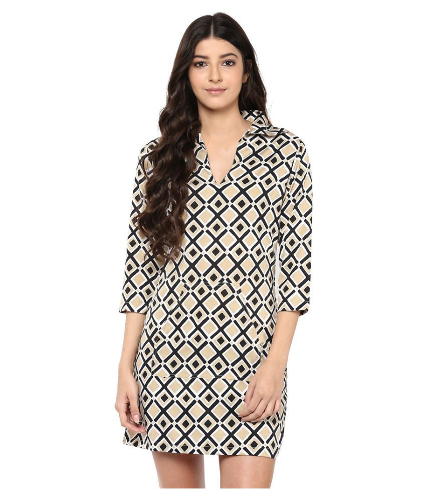 f69aeea669b86 Abiti Bella Multi Color Crepe A- line - Buy Abiti Bella Multi Color Crepe  A- line Online at Best Prices in India on Snapdeal