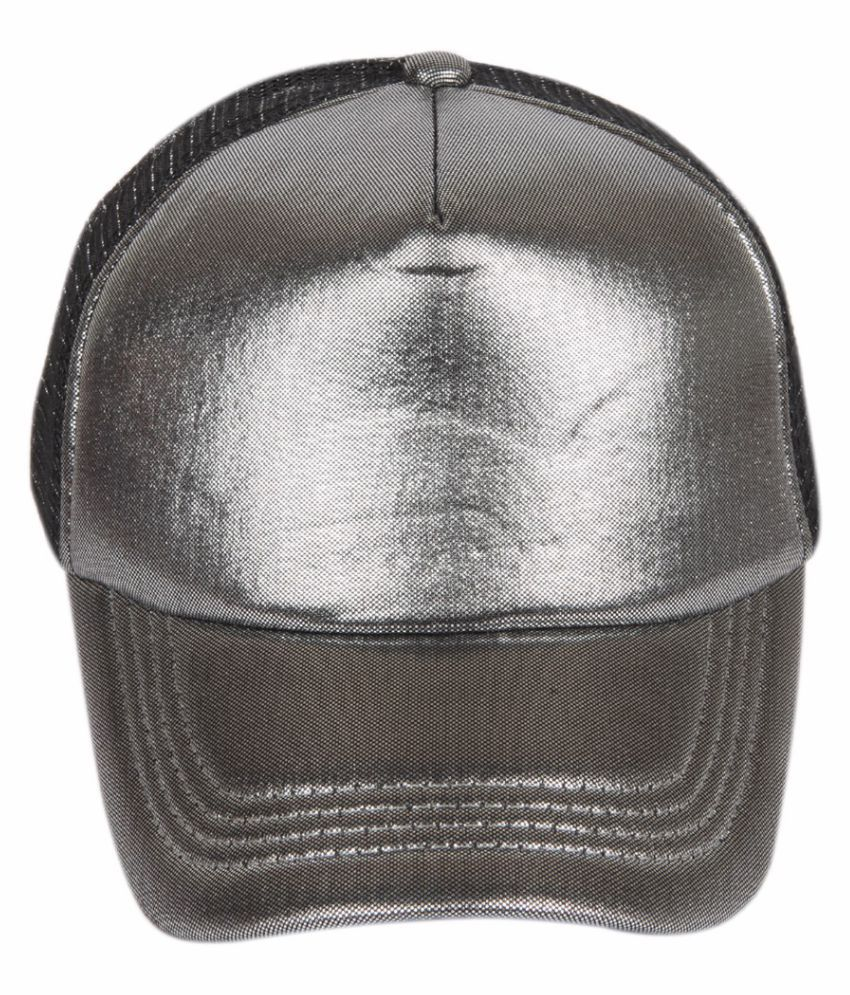 ILU Silver Plain Polyester Caps