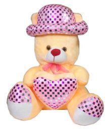 MYBUDDY Sweet Soft Teddy Bear In Hat With Heart 52cm