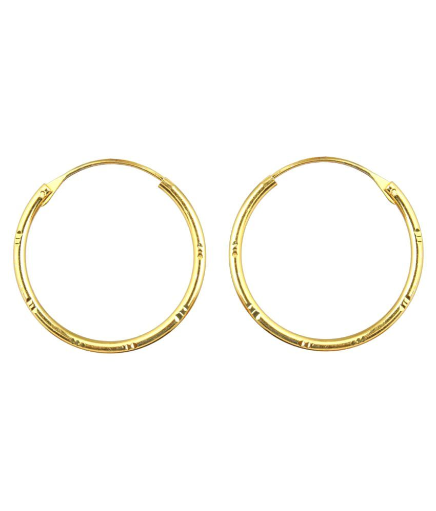Waama Jewels Goldplated Hoops Earrings