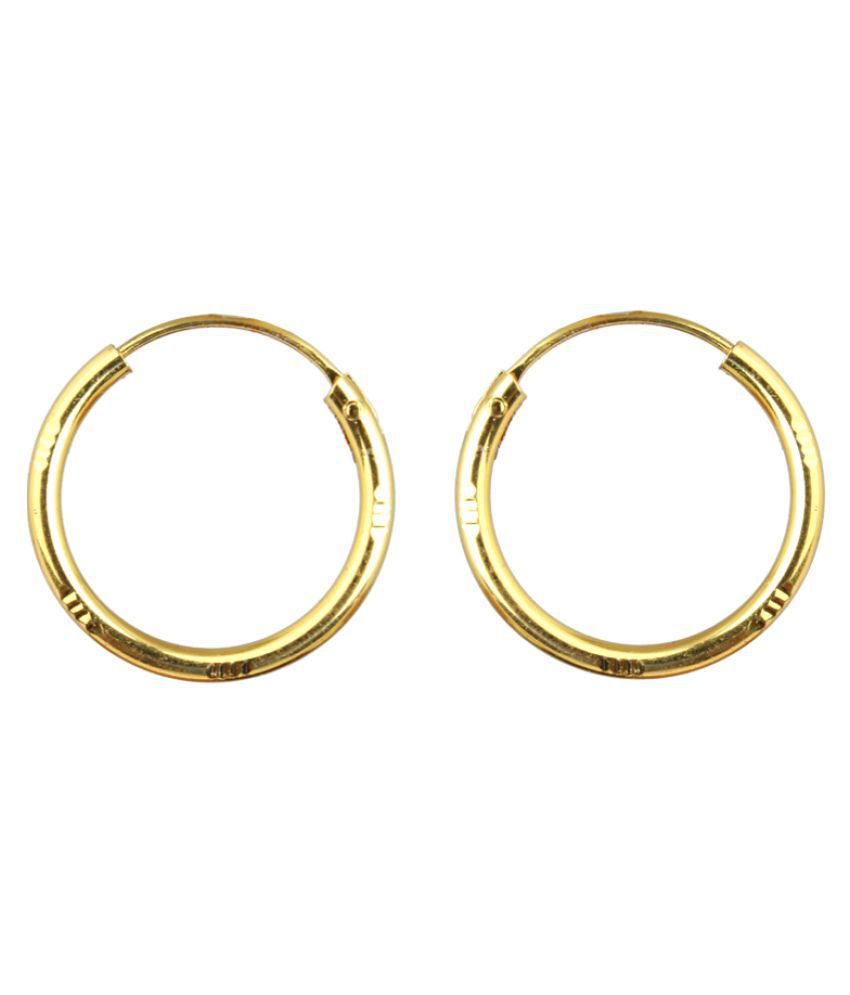 Waama Jewels Golden Hoop Earrings