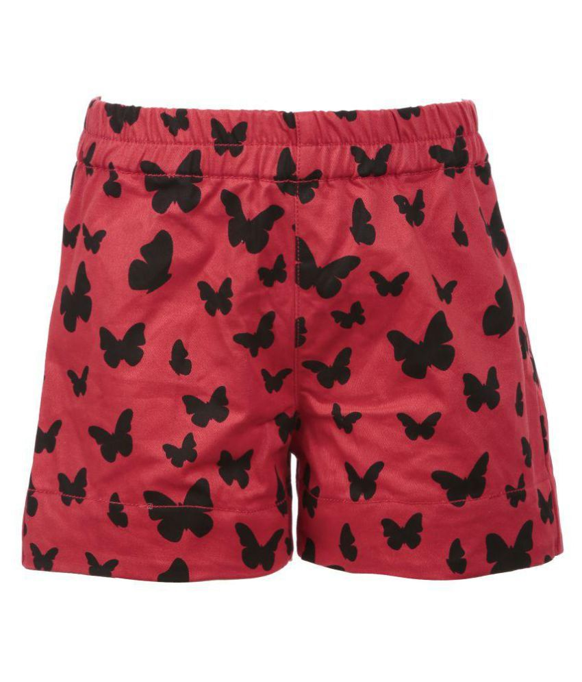 Posh Kids Red Cotton Hot Pants