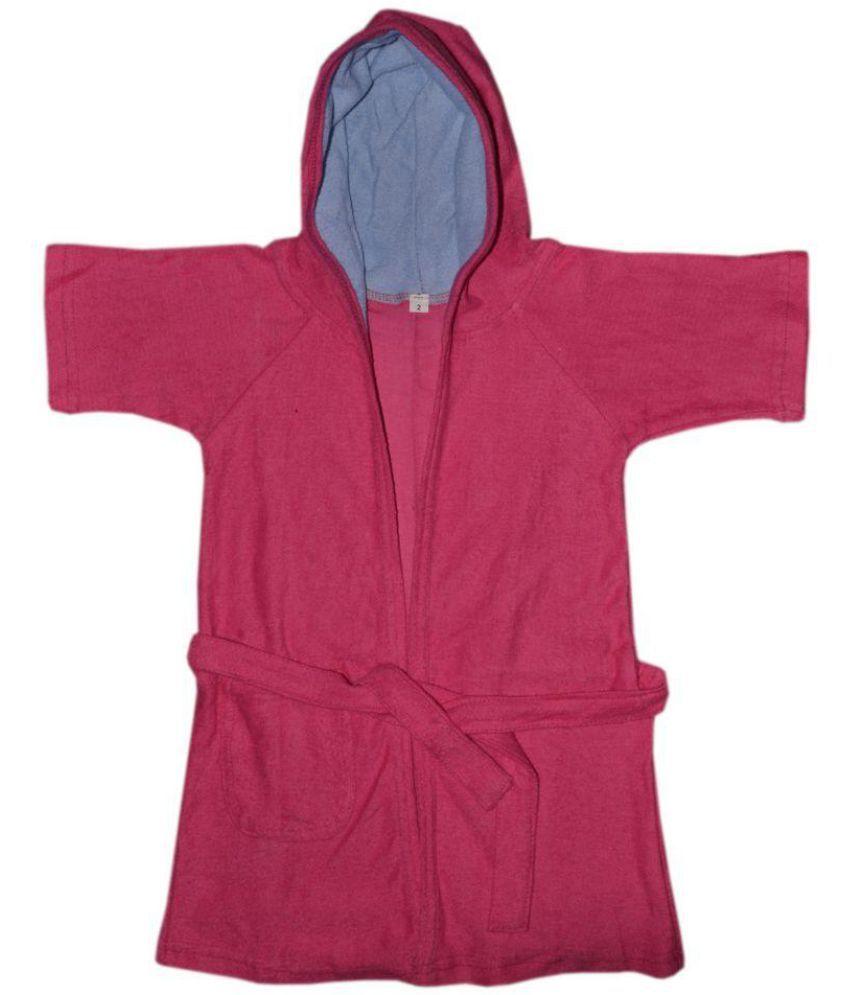Rolex Enterprises Red Cotton Bathrobes