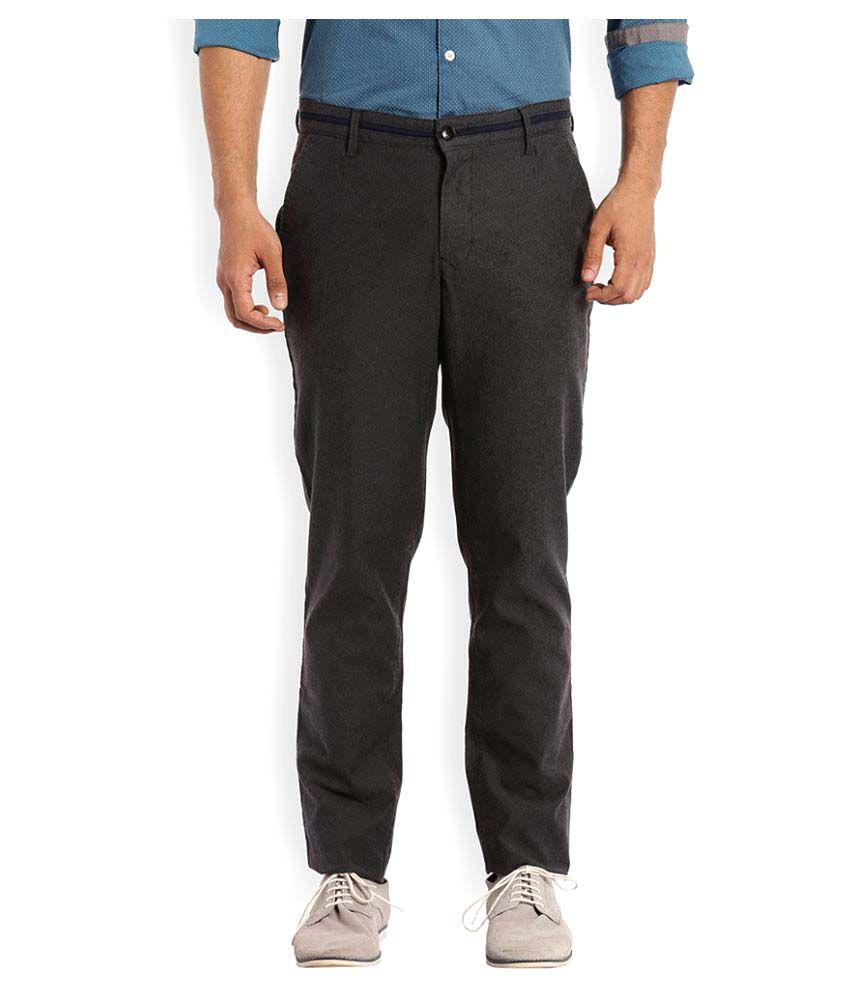 Colorplus Grey Regular Flat Trouser