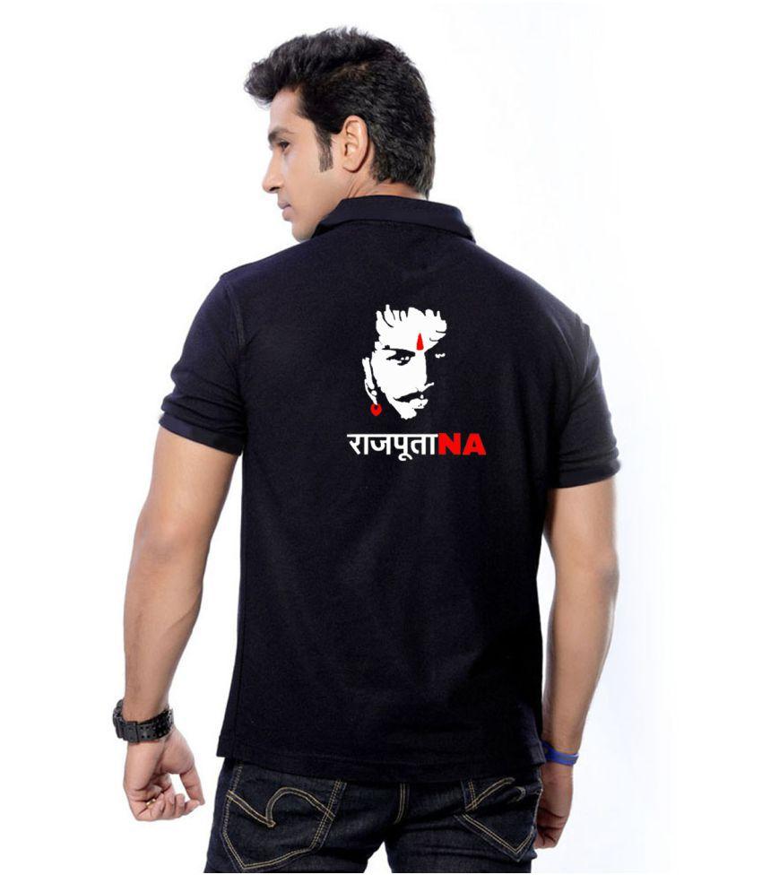 Rajputana Brothers Black Regular Fit Polo T Shirt - Buy Rajputana ...