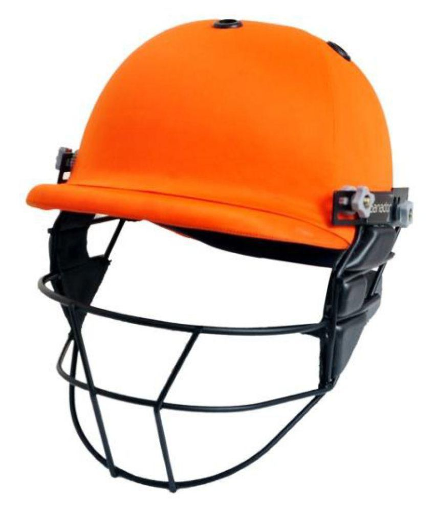 c1107d706a7 Ganador Orange Cricket Helmet Price in India