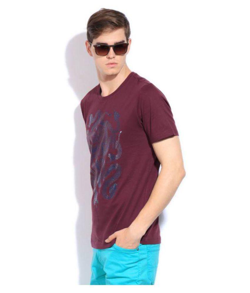 Puma Maroon Round T-Shirt