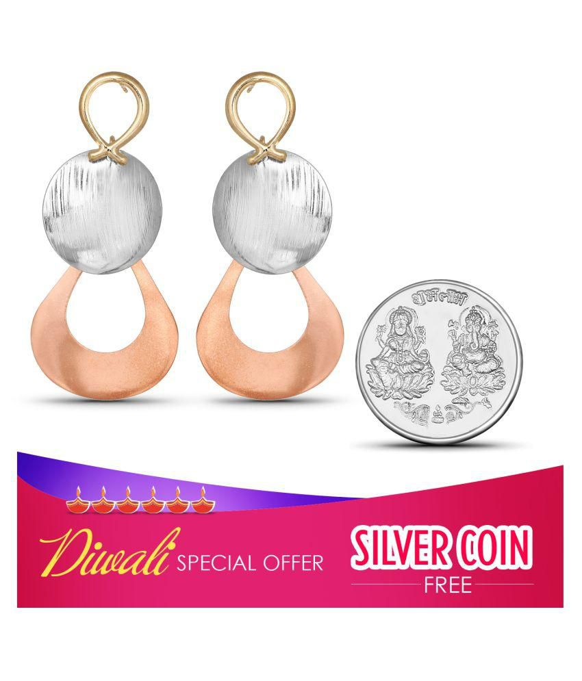 Johareez Goldent Alloy Hanging Earrings