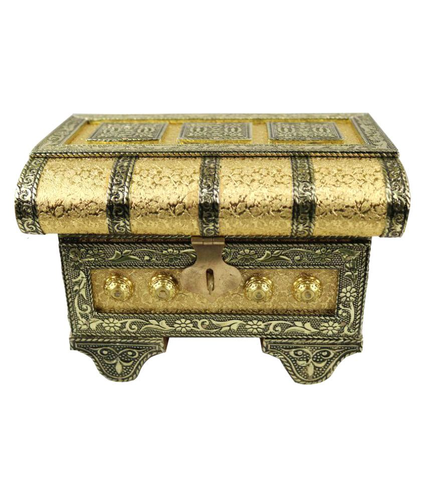 Stop N Shop Golden Jewellery Box