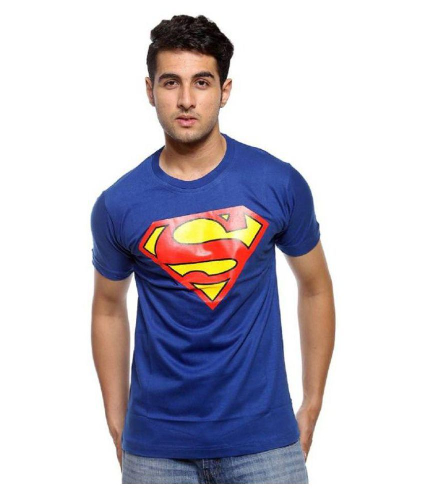 Aman Hosiery Blue Round T-Shirt