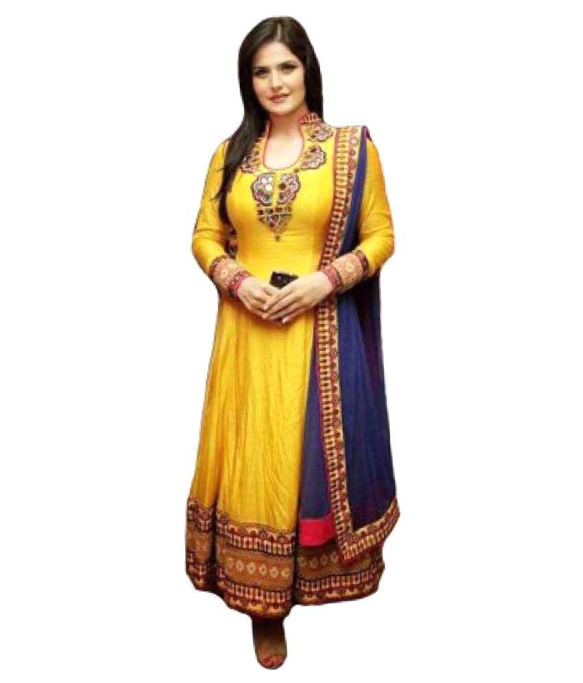 Murlidhar Creation Light Yellow Cotton Dress Material