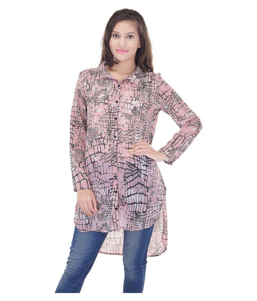 Saarvi Fashion Multi Color Georgette Tunics