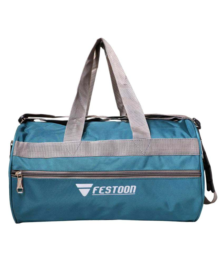 Festoon Cyan Gym Bag
