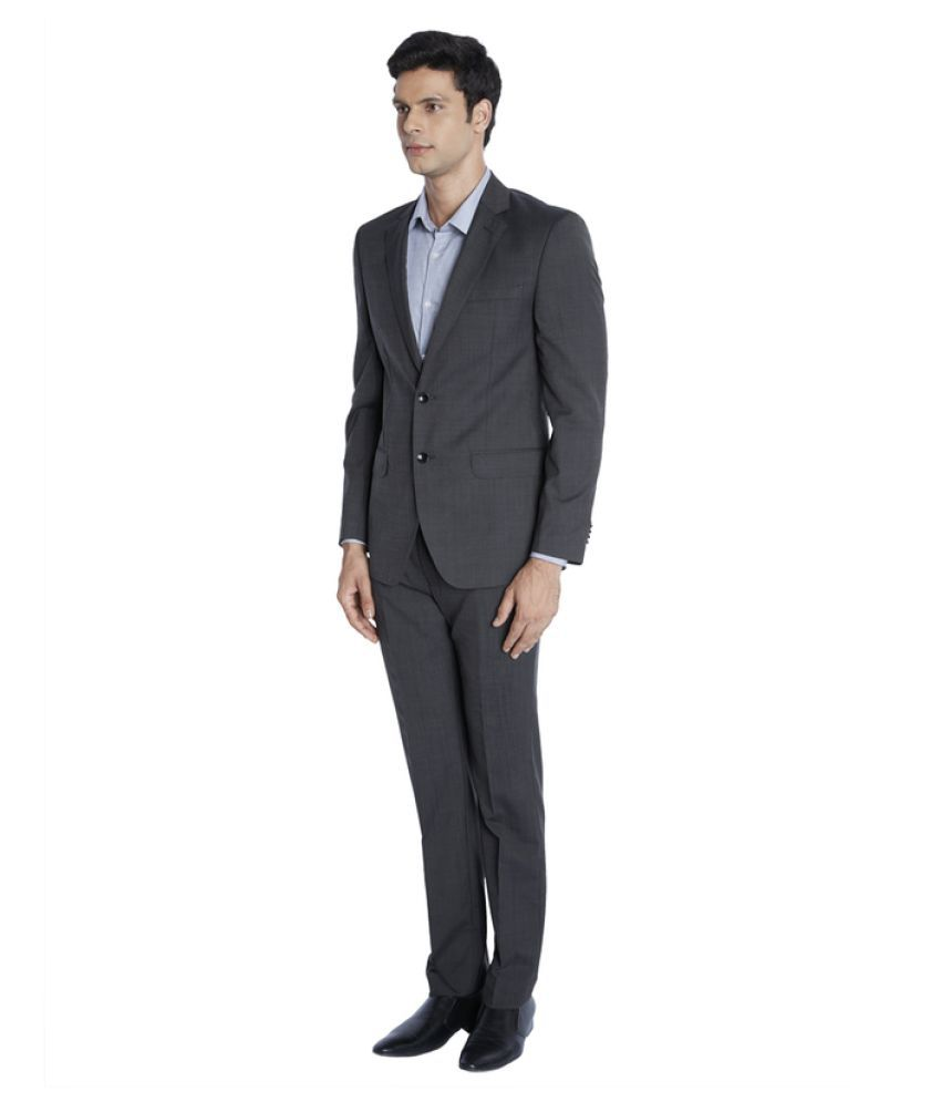 Park Avenue Black Solid Formal Suit Price in India on 18 ...