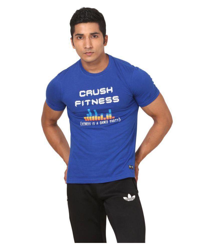 Crush Fitness India Blue Round T-Shirt