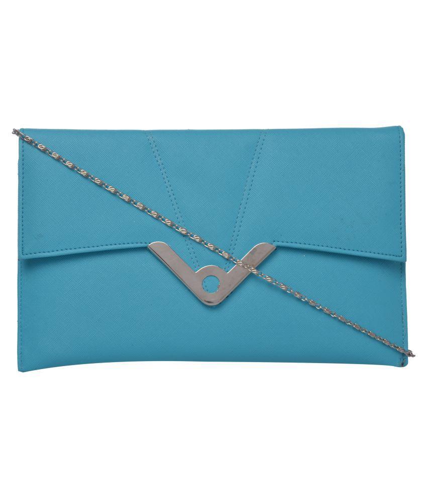 Exotique Blue P.U. Sling Bag