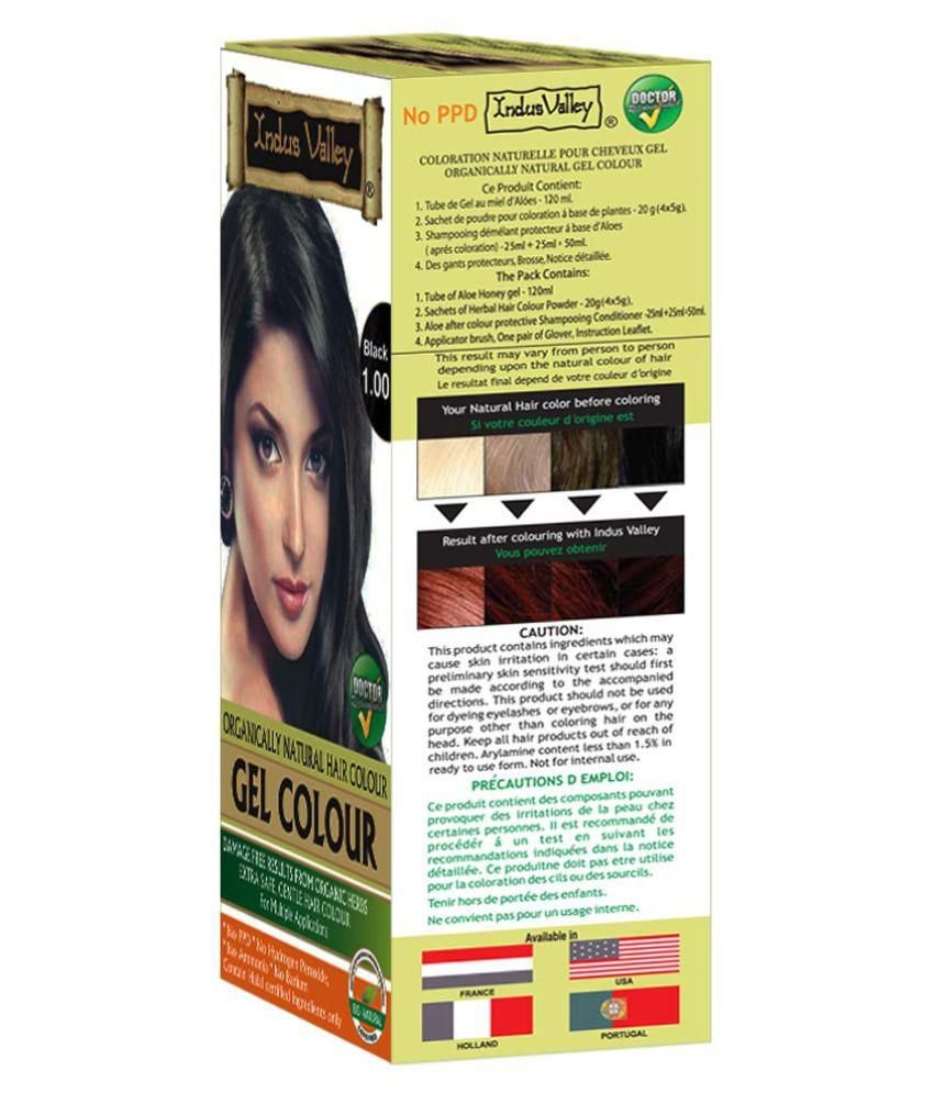 Indus Valley Organically Natural Gel Black Permanent Hair Color ...