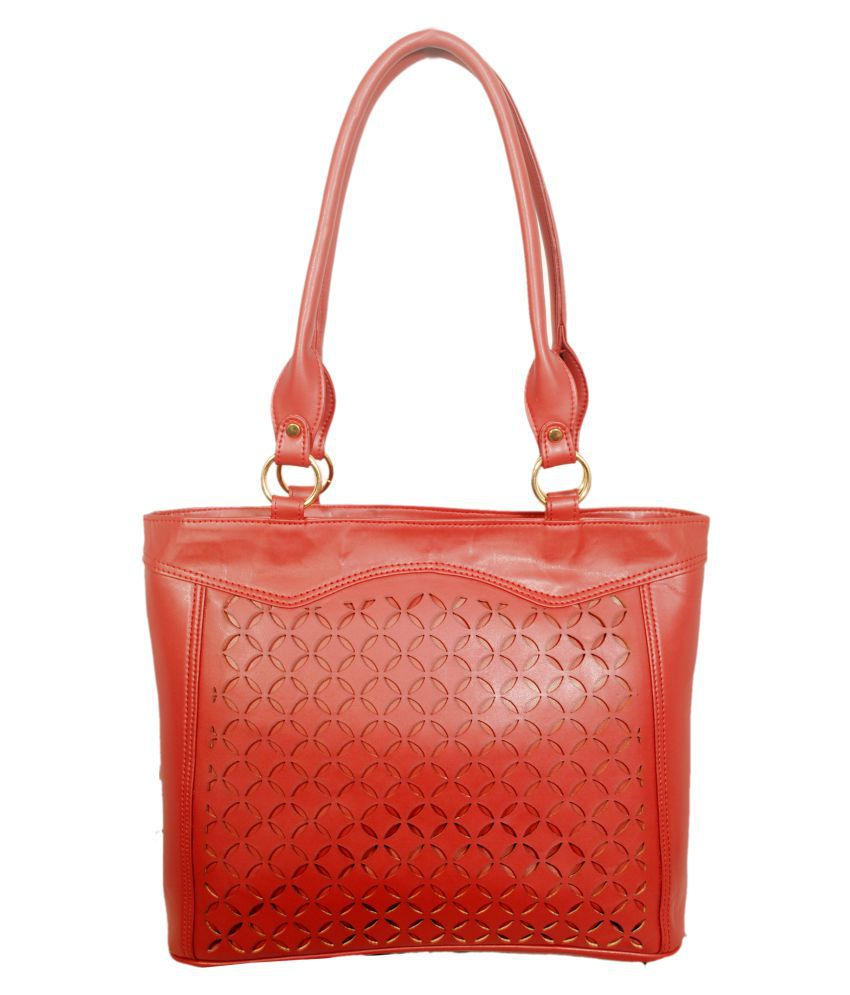 Marlberry Red Artificial Leather Shoulder Bag
