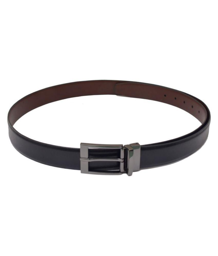 Saransh Black Leather Formal Belts