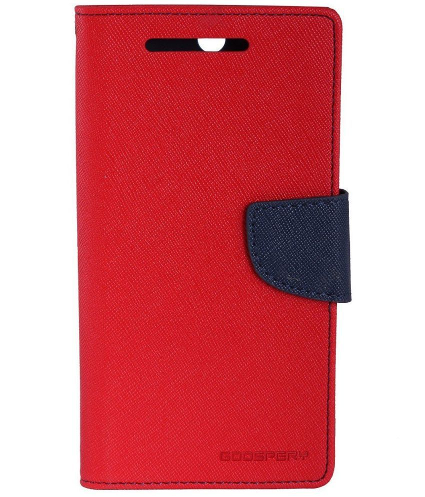 Lenovo Vibe P1M Flip Cover by Kulasri Empire - Red