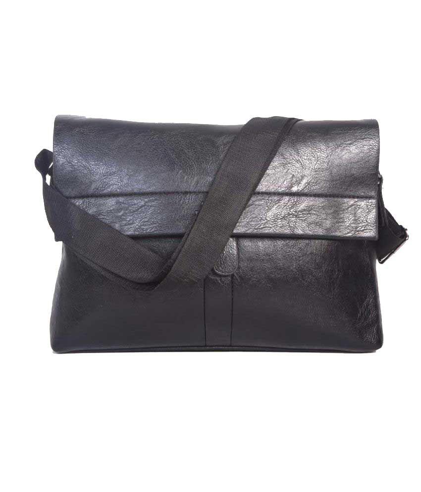 Bags Craze Black P.U. Sling Bag