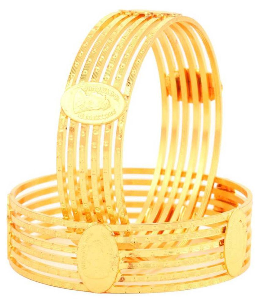 eShopitude Golden Alloy Bangle Set