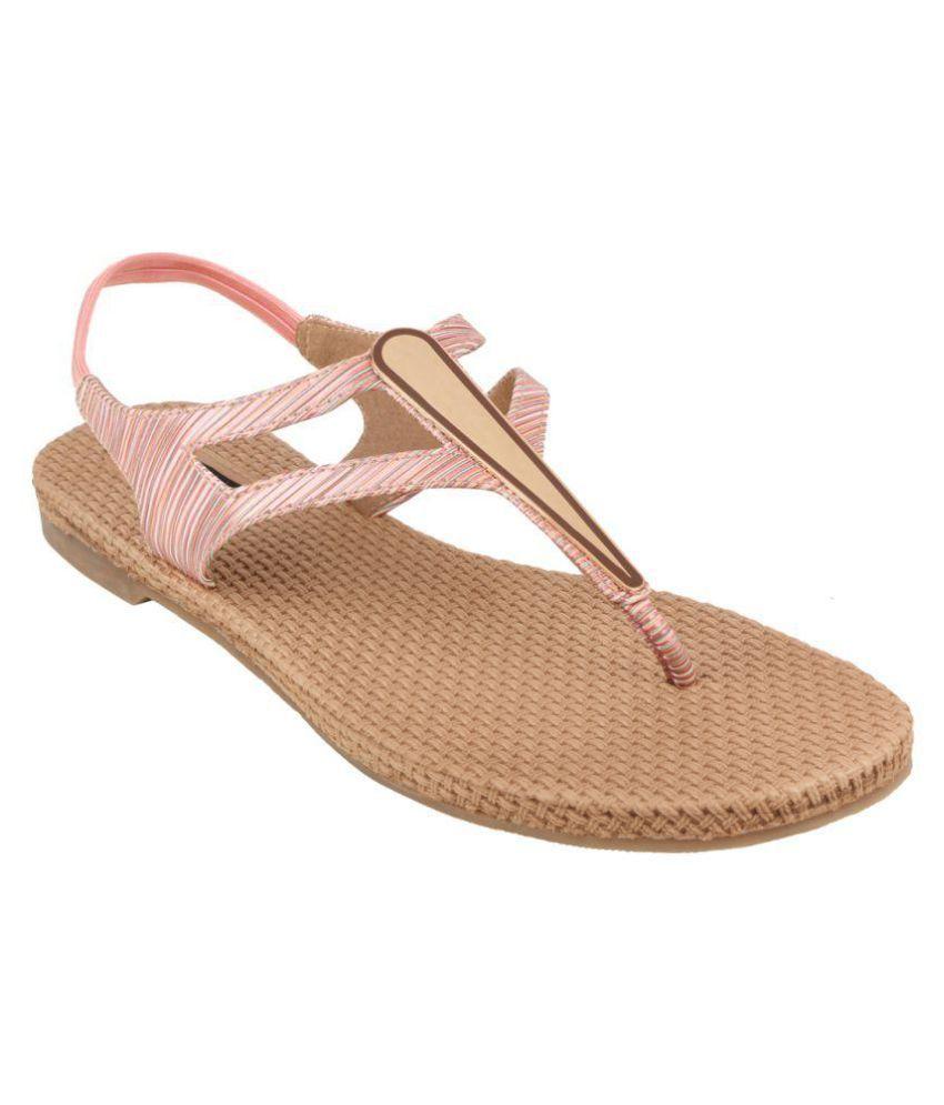 Nutan Stores Pink Flats