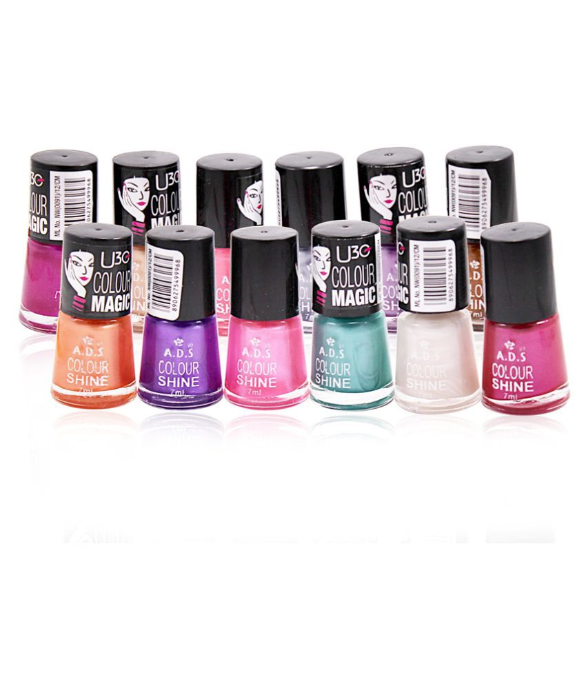 ADS Good Choice Free Kajal With Nail Polish Multicolour Natural 12 ...